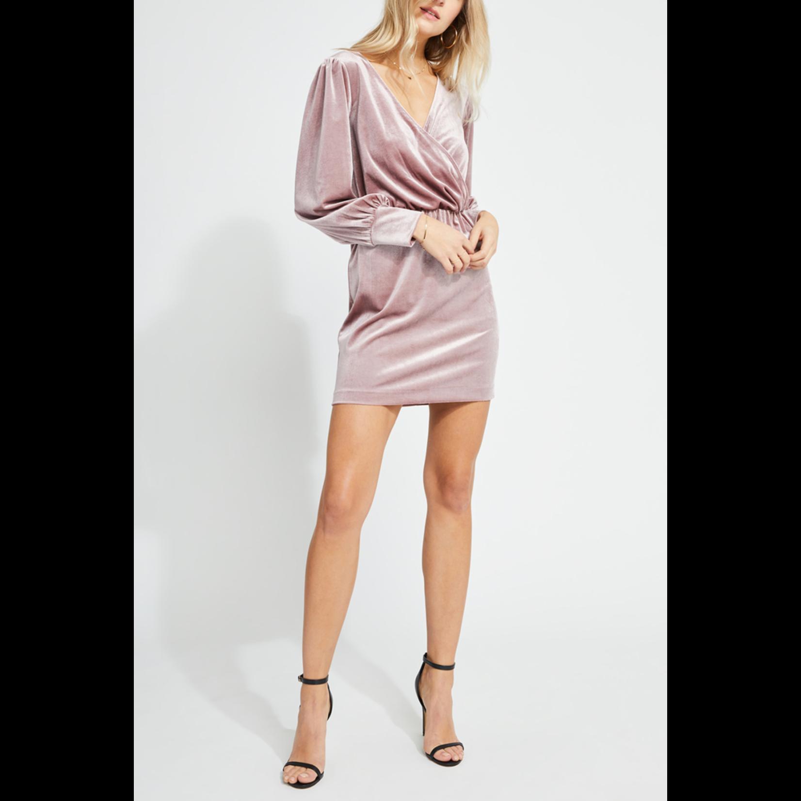 Gentle Fawn Velvet Faux Wrap Dress