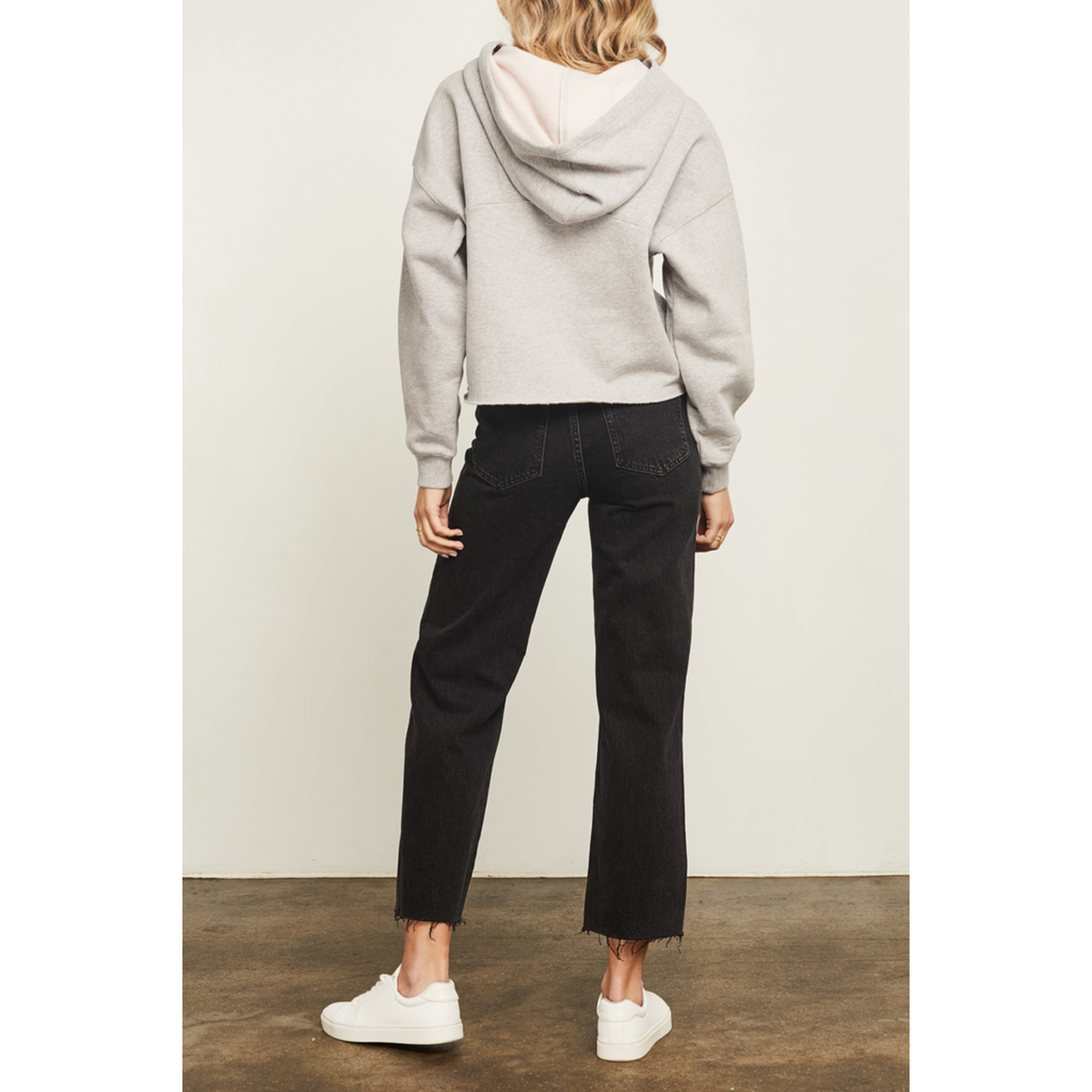 Gentle Fawn Lace Up Neckline Hoodie