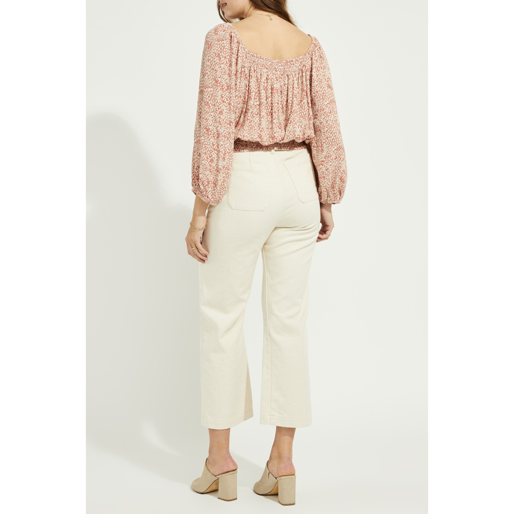 Gentle Fawn Smocked waist printed top
