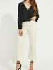 Gentle Fawn Faux wrap jacquard blouse
