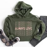 Type A Tees Always Love Cropped Sweatshirt