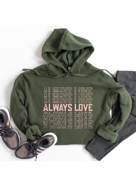 Type A Tees Always Love Cropped Sweatshirt