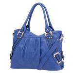 Melie Bianco Melie Bianco Blue Emma Braided Trim Shoulder Bag