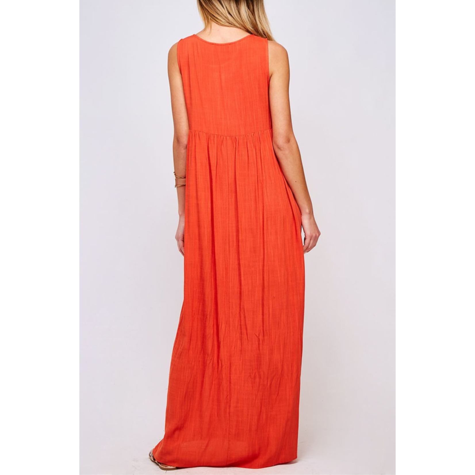 Peach Love CA Flowy maxi dress