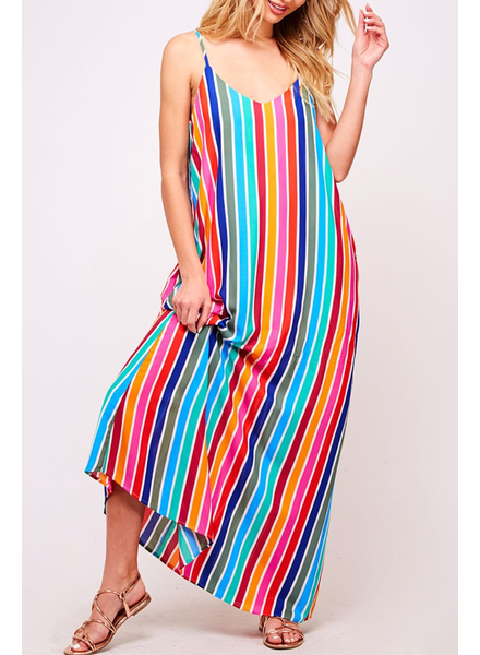 Peach Love CA Multicolor Maxi Dress