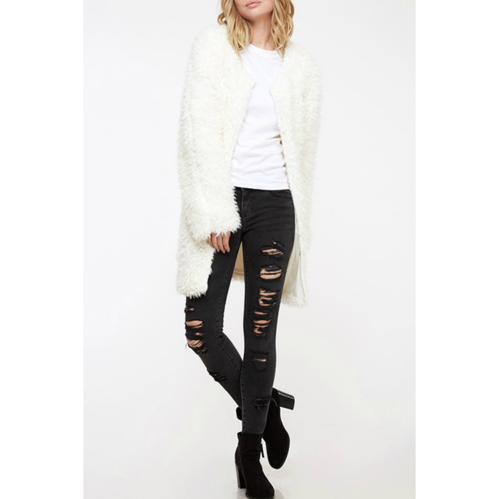 Fantastic Fawn Fuzzy knit coat, sale item, Was $65