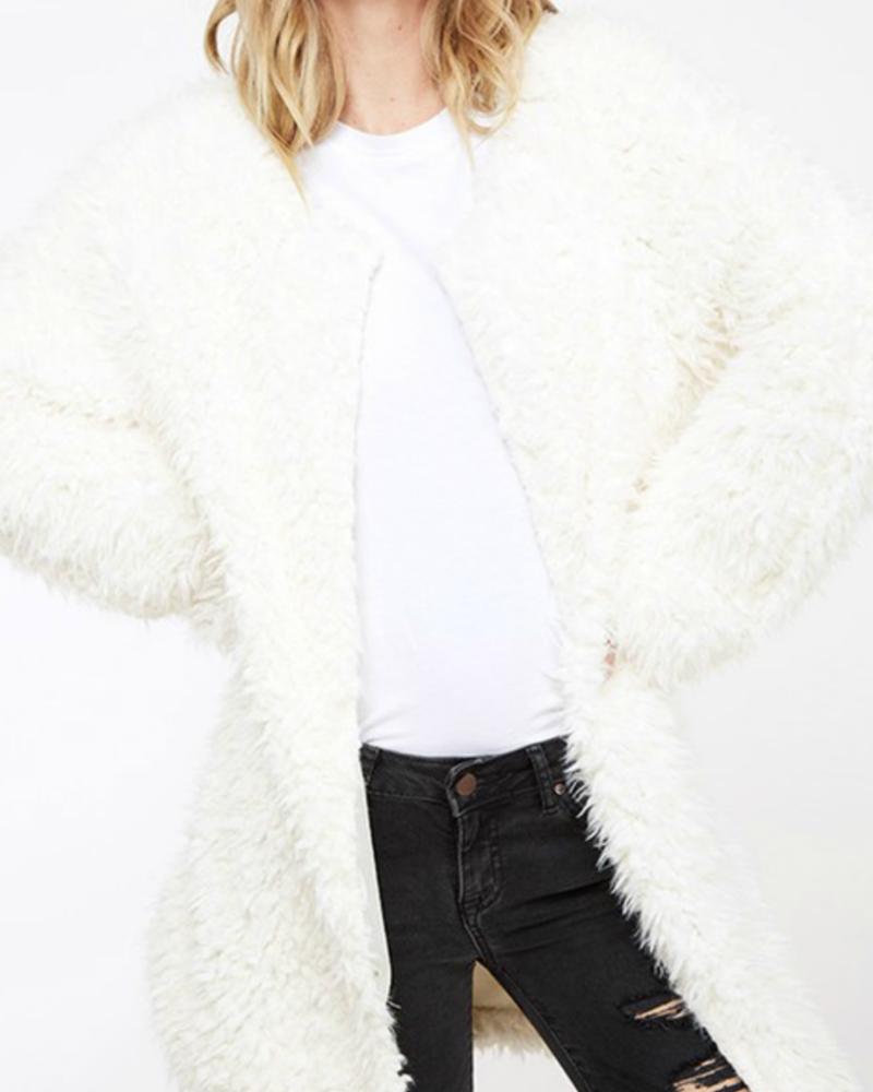 Fantastic Fawn Fuzzy knit coat, sale item, Was $65
