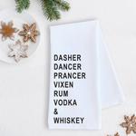 Devenie Designs Reindeer Tea Towel