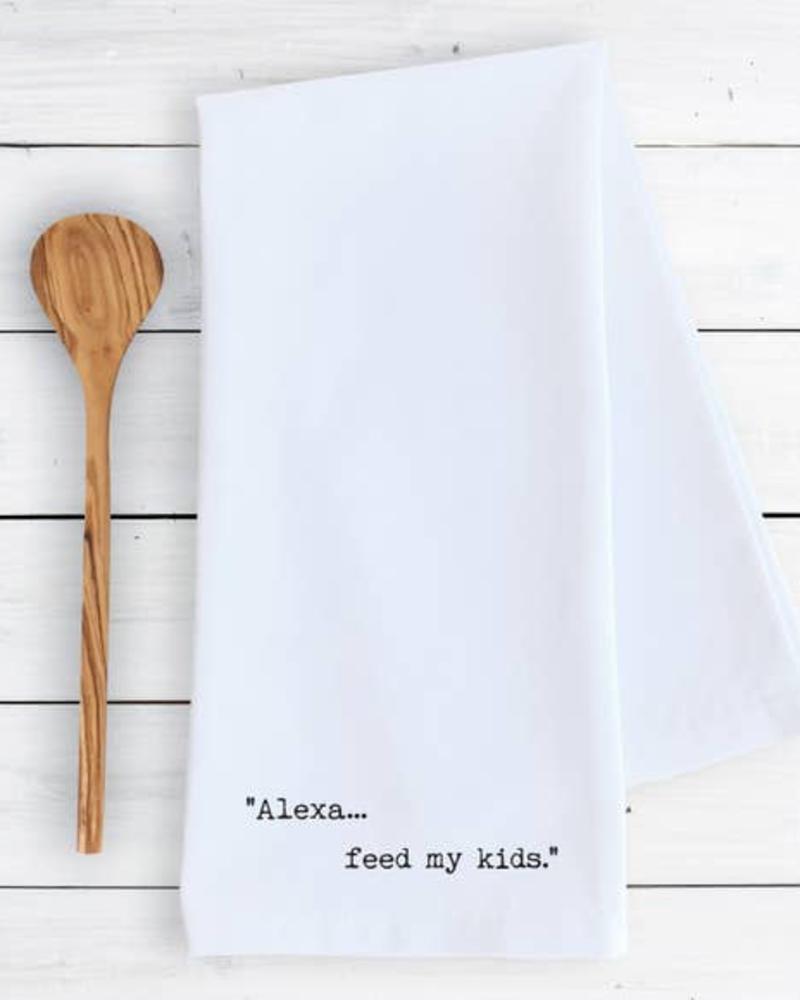 Devenie Designs Alexa Feed Kids Tea Towel