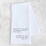 Devenie Designs Half Empty Tea Towel