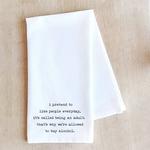 Devenie Designs Being Adult Tea Towel