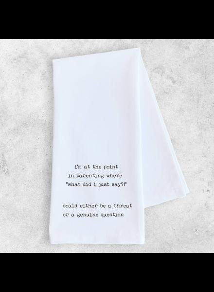 Devenie Designs What Did I Say Tea Towel