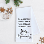 Devenie Designs Christmas Anxiety Tea Towel