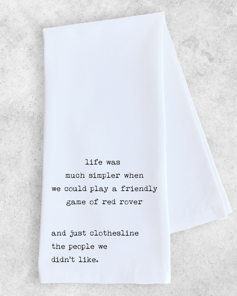 Devenie Designs Red Rover Tea Towel