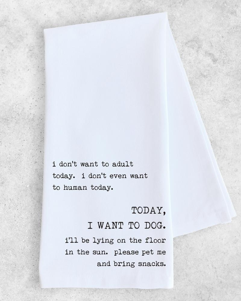 Devenie Designs I Want to Dog Tea Towel