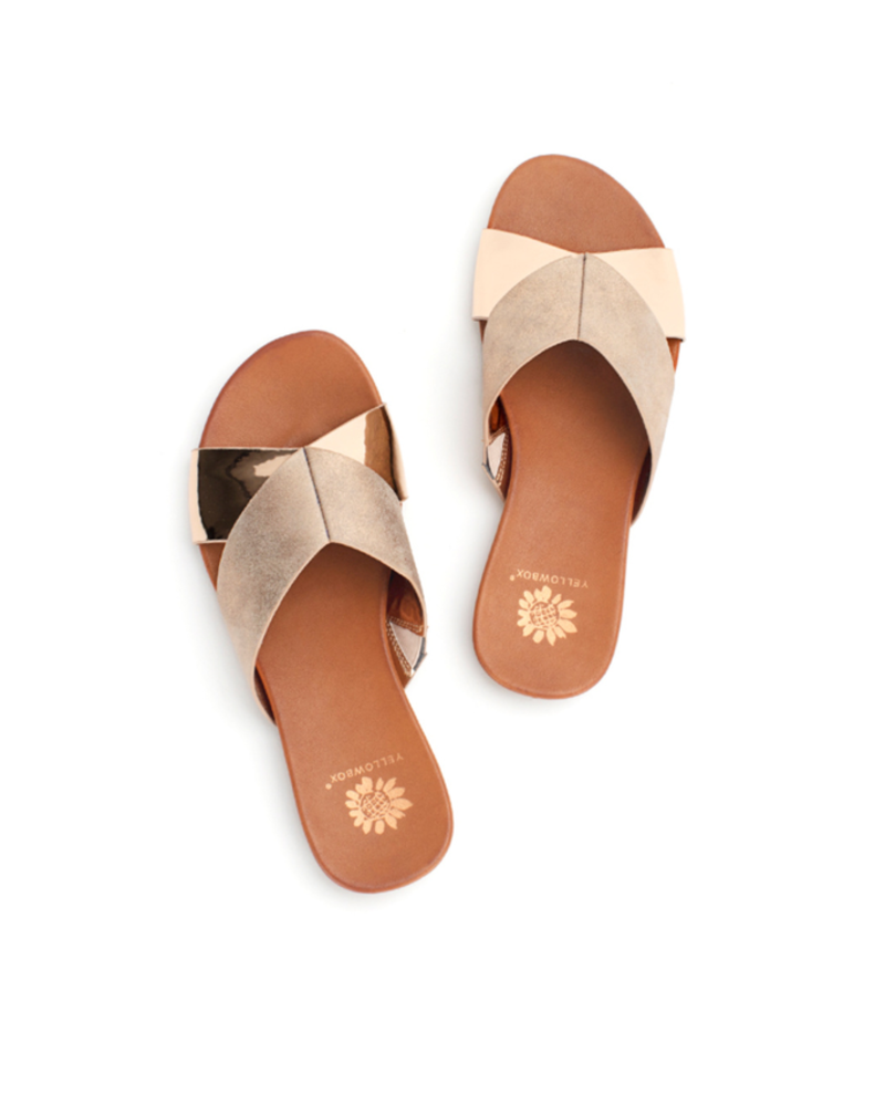 Yellowbox Shoes Metallic flat sandal, sale item, Was $45