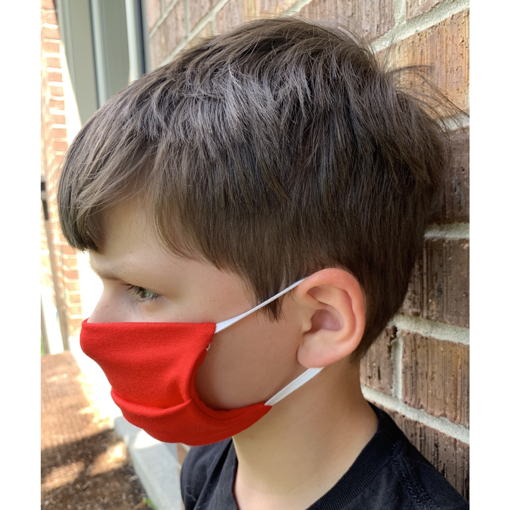 American Mask Project Kids Solid Red Mask