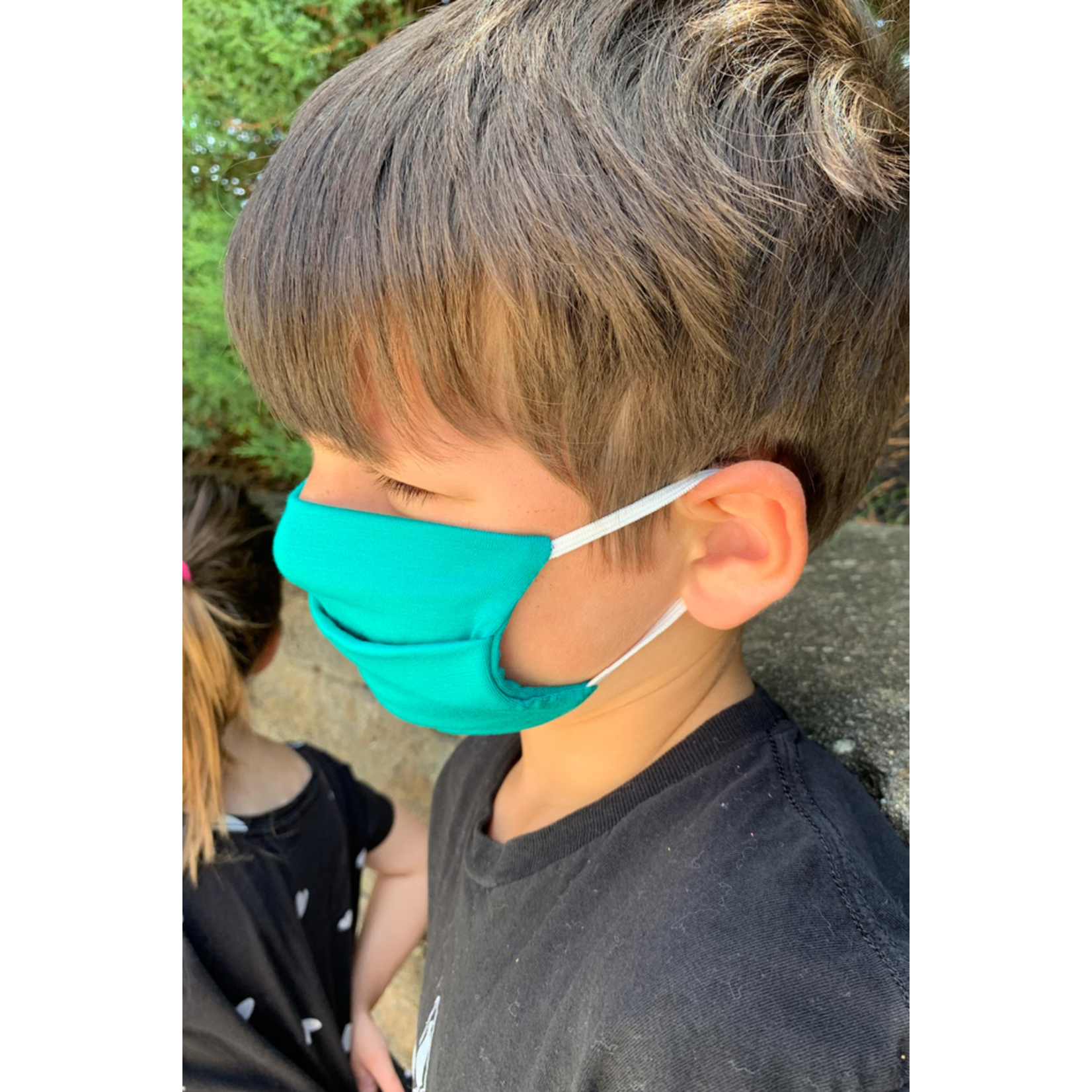 American Mask Project Kids Solid Bright Green Mask