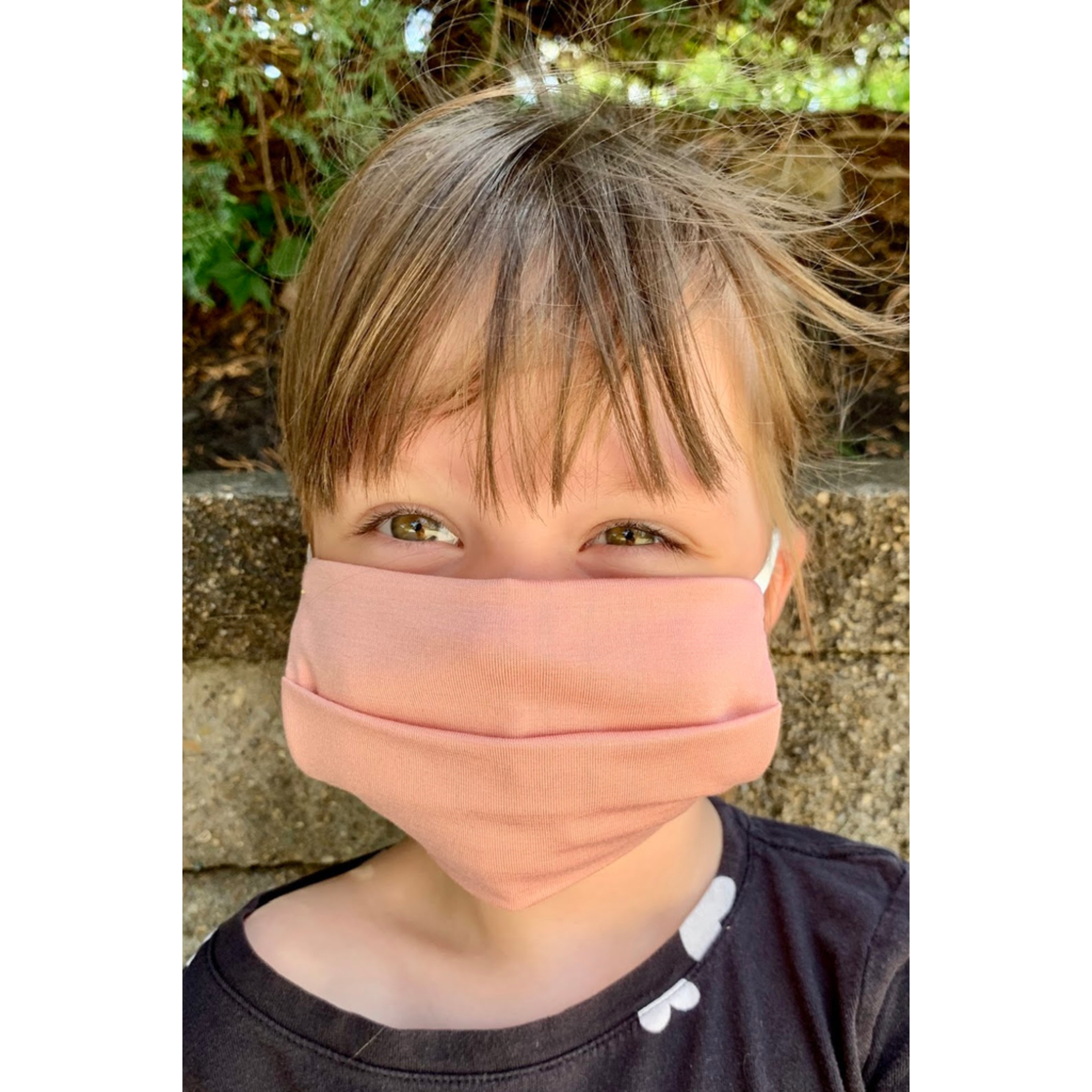 American Mask Project Kids Solid Light Pink Mask