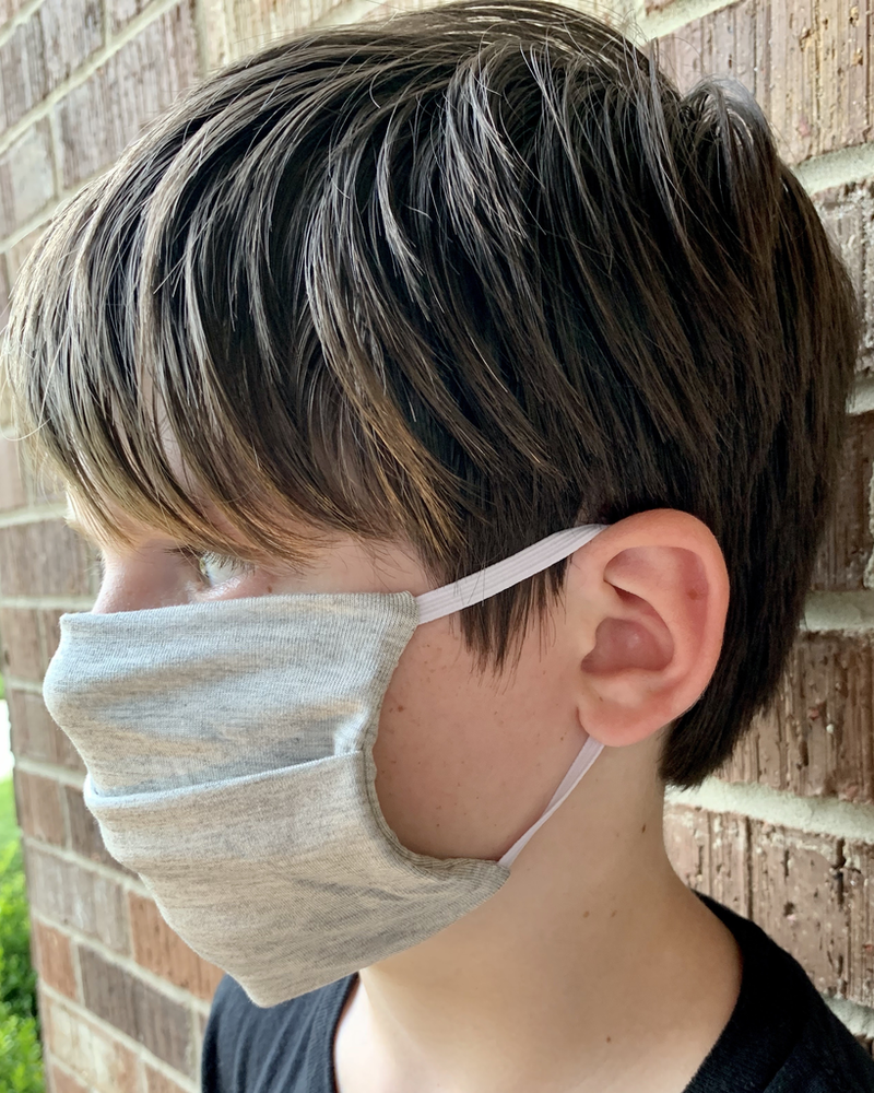 American Mask Project Youth Light Grey Mask