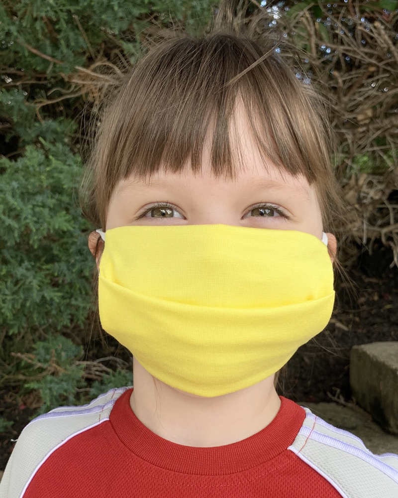 American Mask Project Kids Solid Yelow Mask
