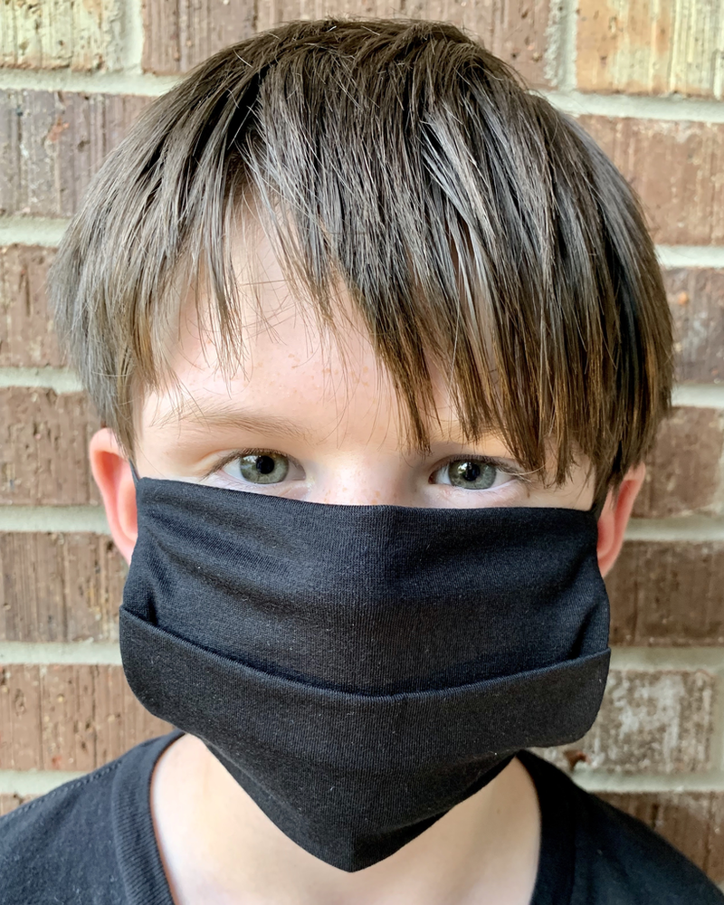 American Mask Project Youth Solid Black Mask