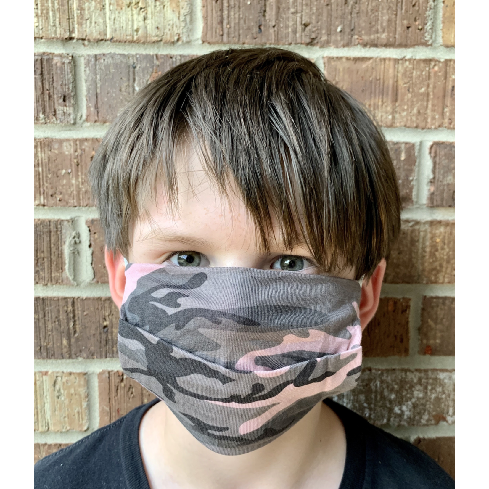 American Mask Project Youth Pink Camo Mask