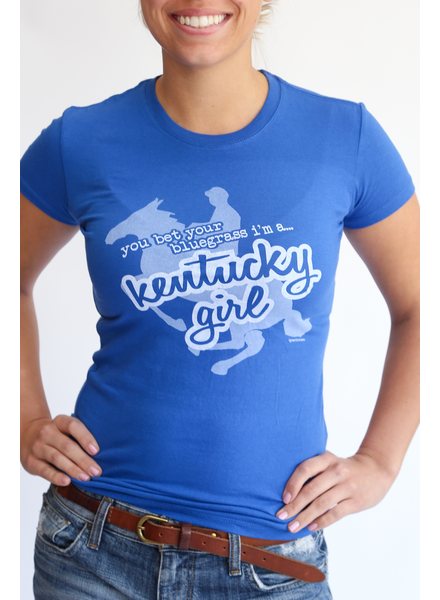 Great to Be Here Tees Kentucky Girl Tee Blue