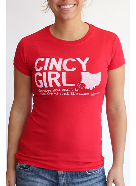 Great to Be Here Tees Cincy Girl Tee Red