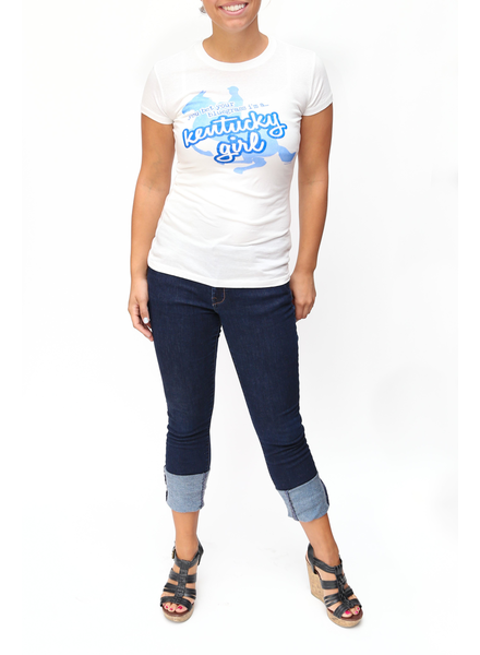 Great to Be Here Tees Kentucky Girl Tee White