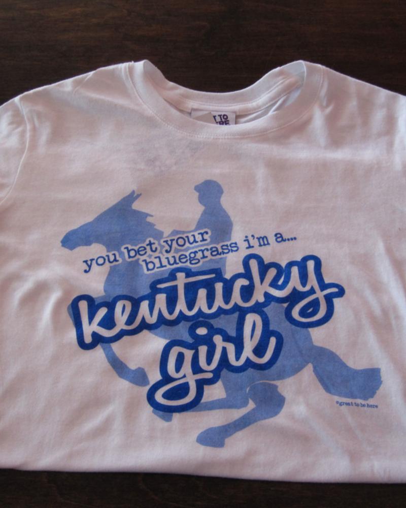 Great to Be Here Tees Kentucky Girl Tee White