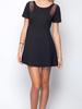 Gentle Fawn Gentle Fawn Black Mesh Dress