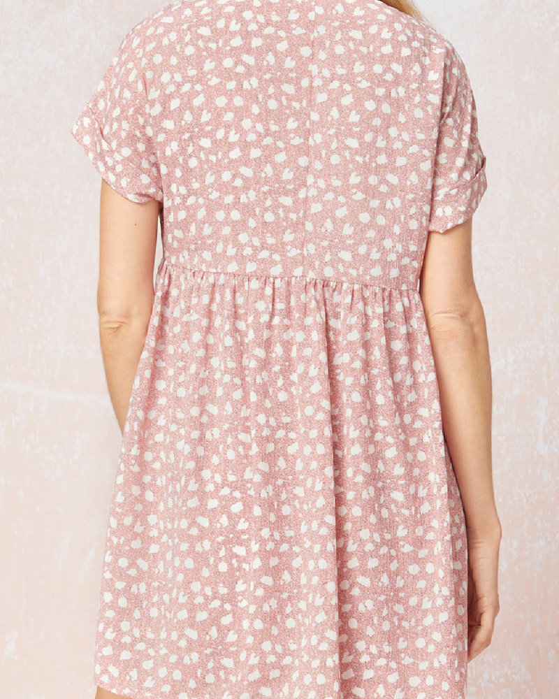 Entro Spotted Babydoll Dress