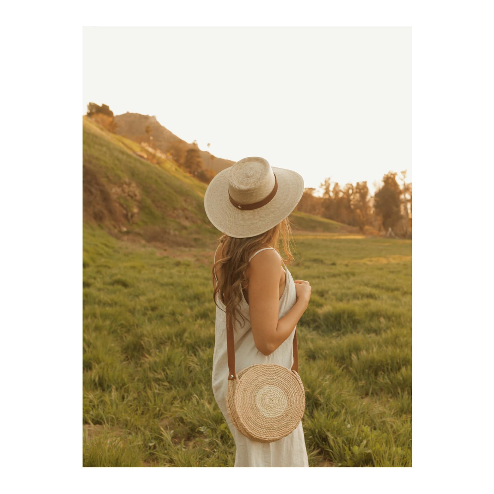 L E A H Straw Gambler Hat