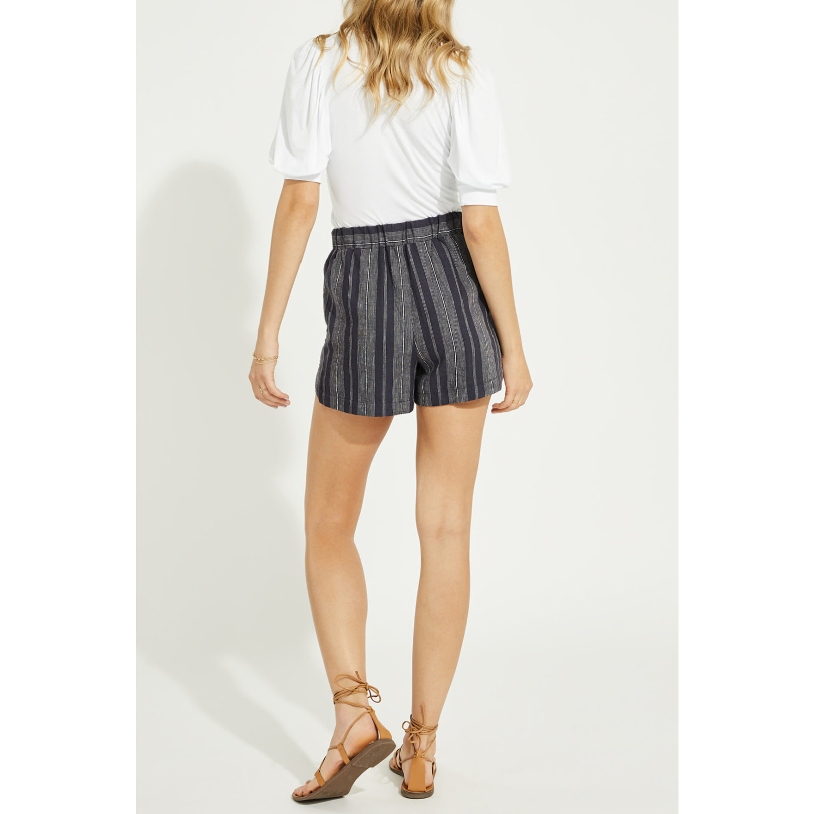 Gentle Fawn Linen Blend Striped Shorts