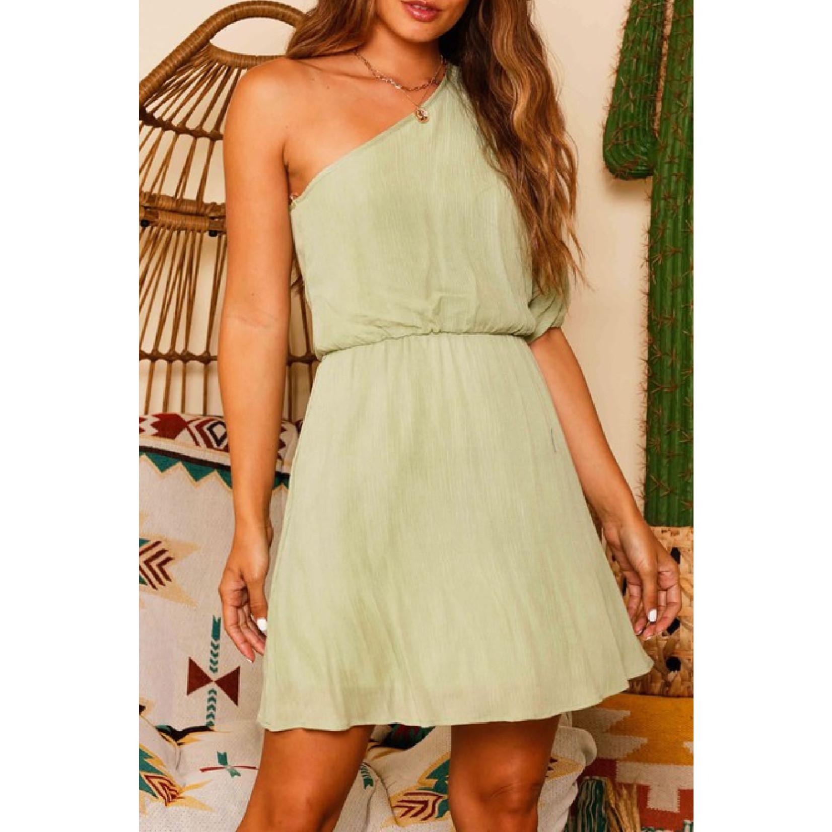 Fantastic Fawn One Shoulder Half Sleeve dress