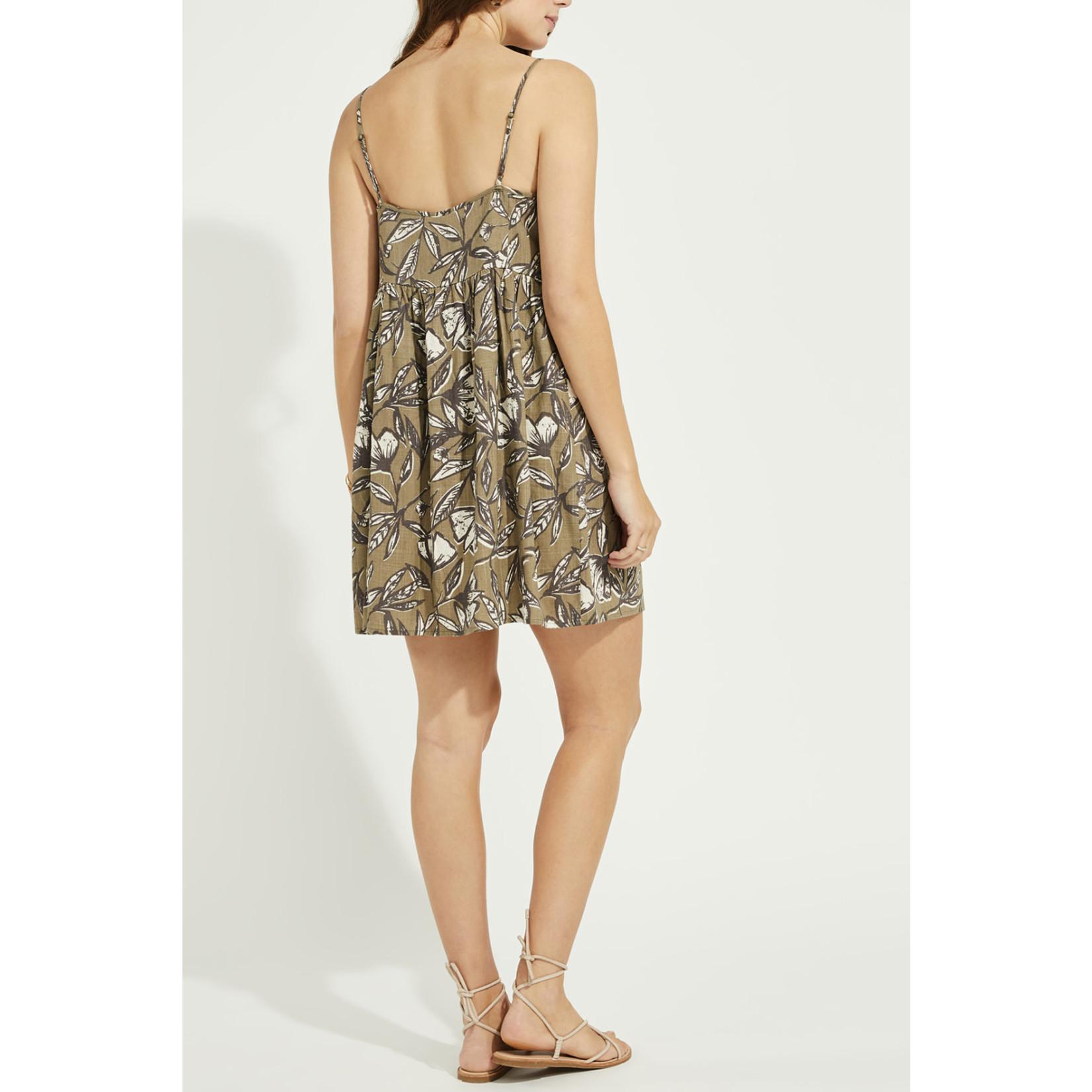 Gentle Fawn Button Front Linen Blend Dress