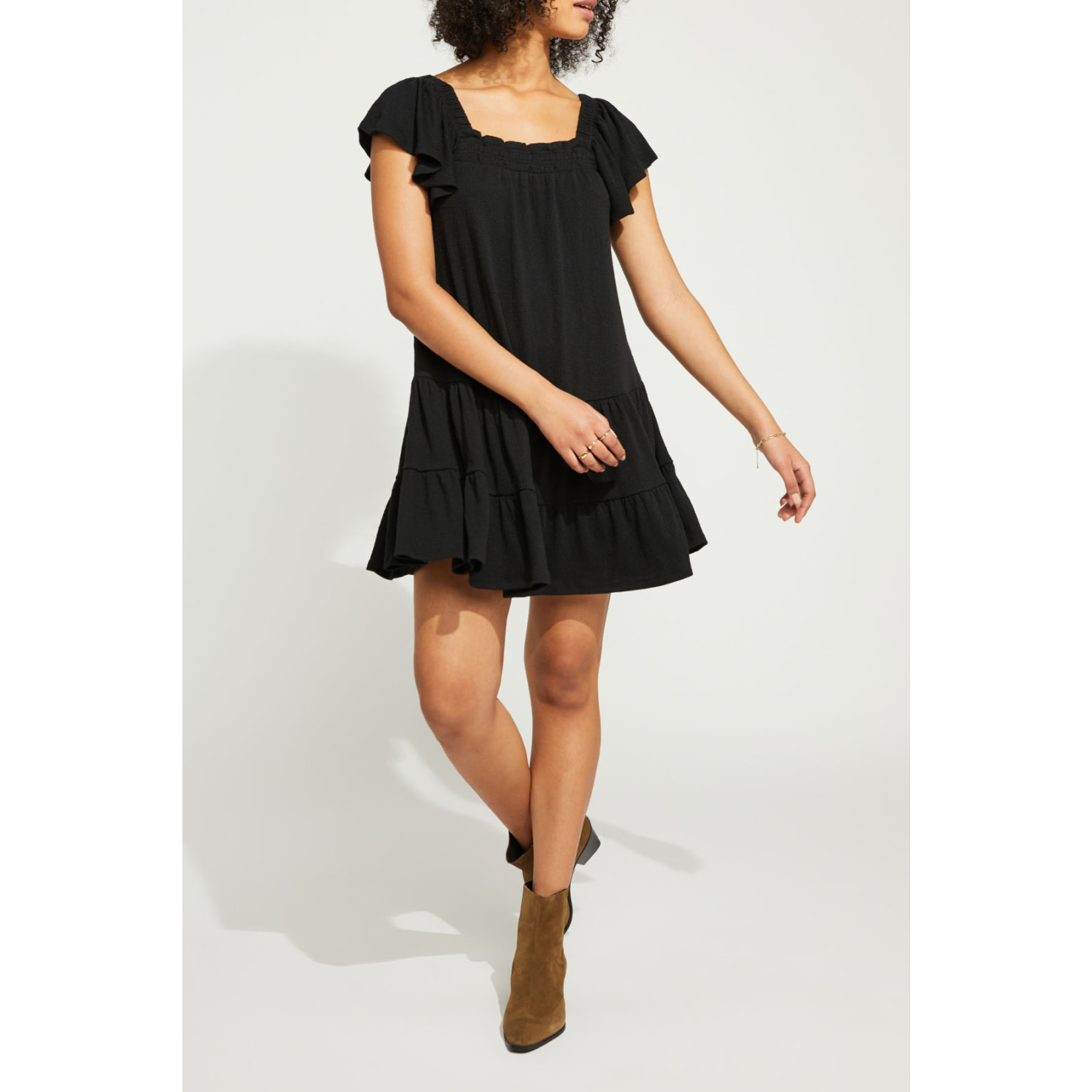 Gentle Fawn Textured Square Neck Dress