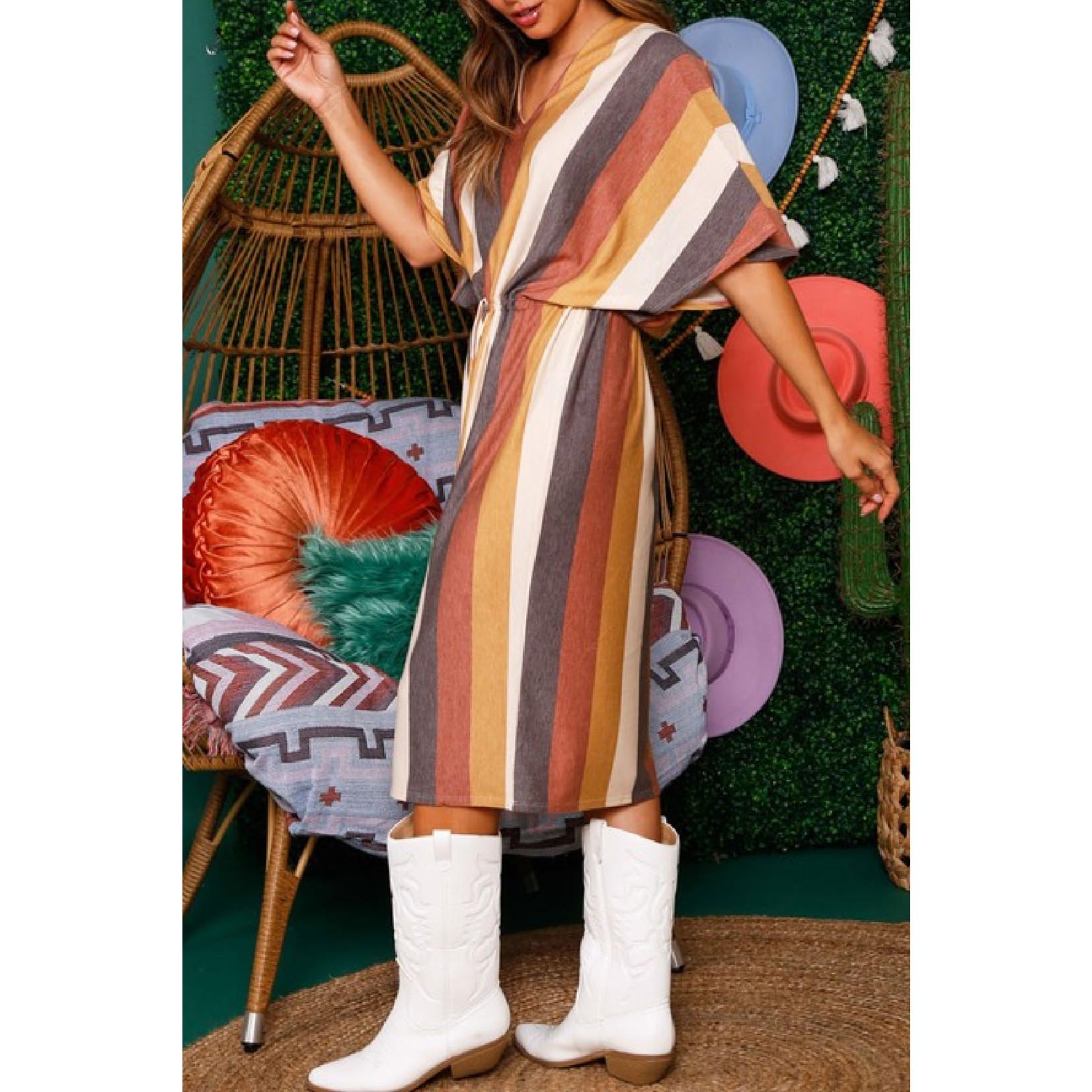 Fantastic Fawn Half Sleeve Midi Dress