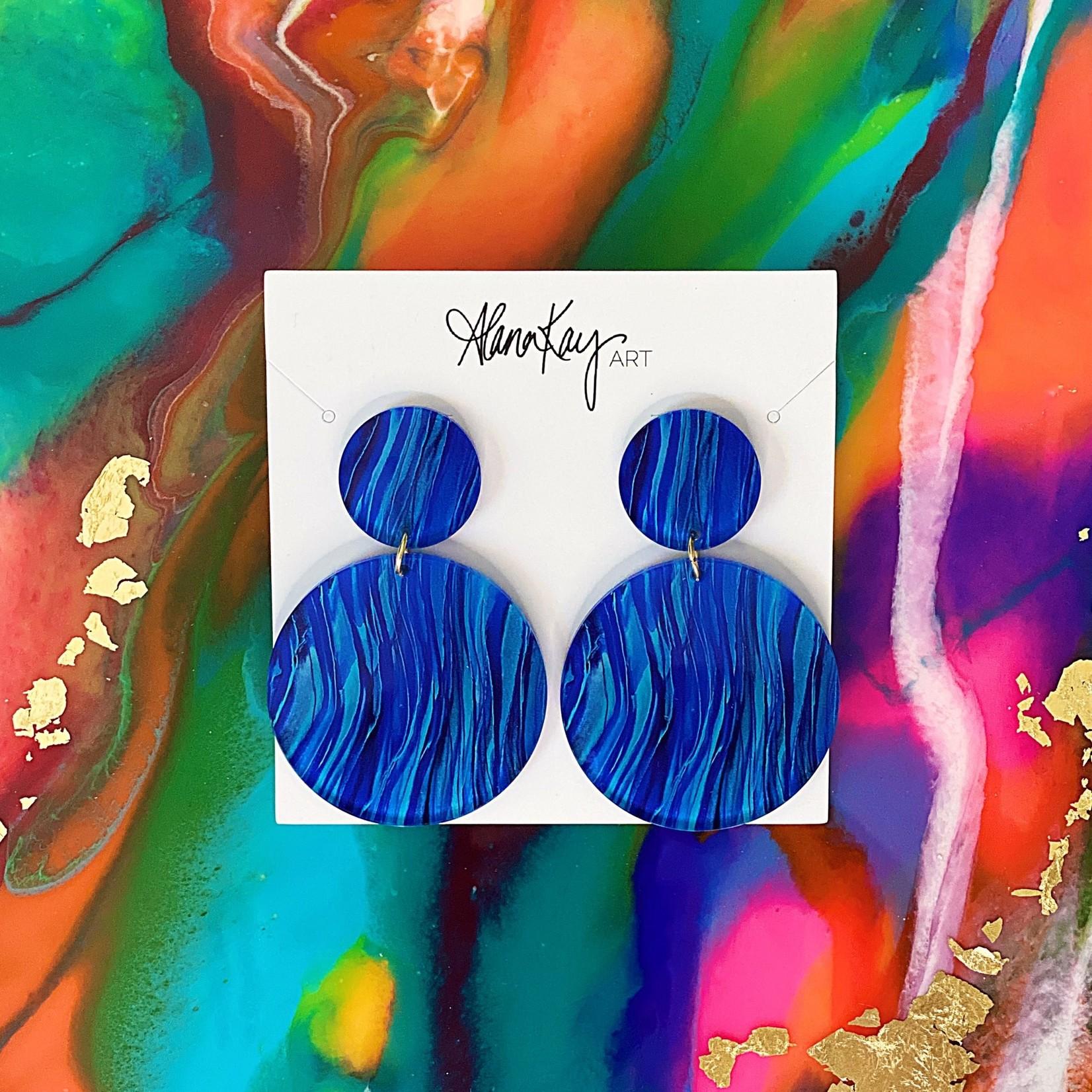 Alana Kay Art Large Round Earrings