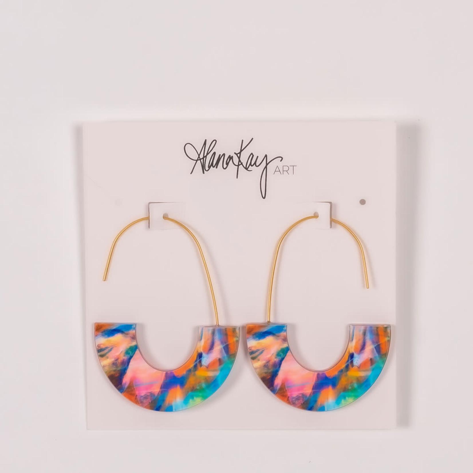 Alana Kay Art Crescent Earrings