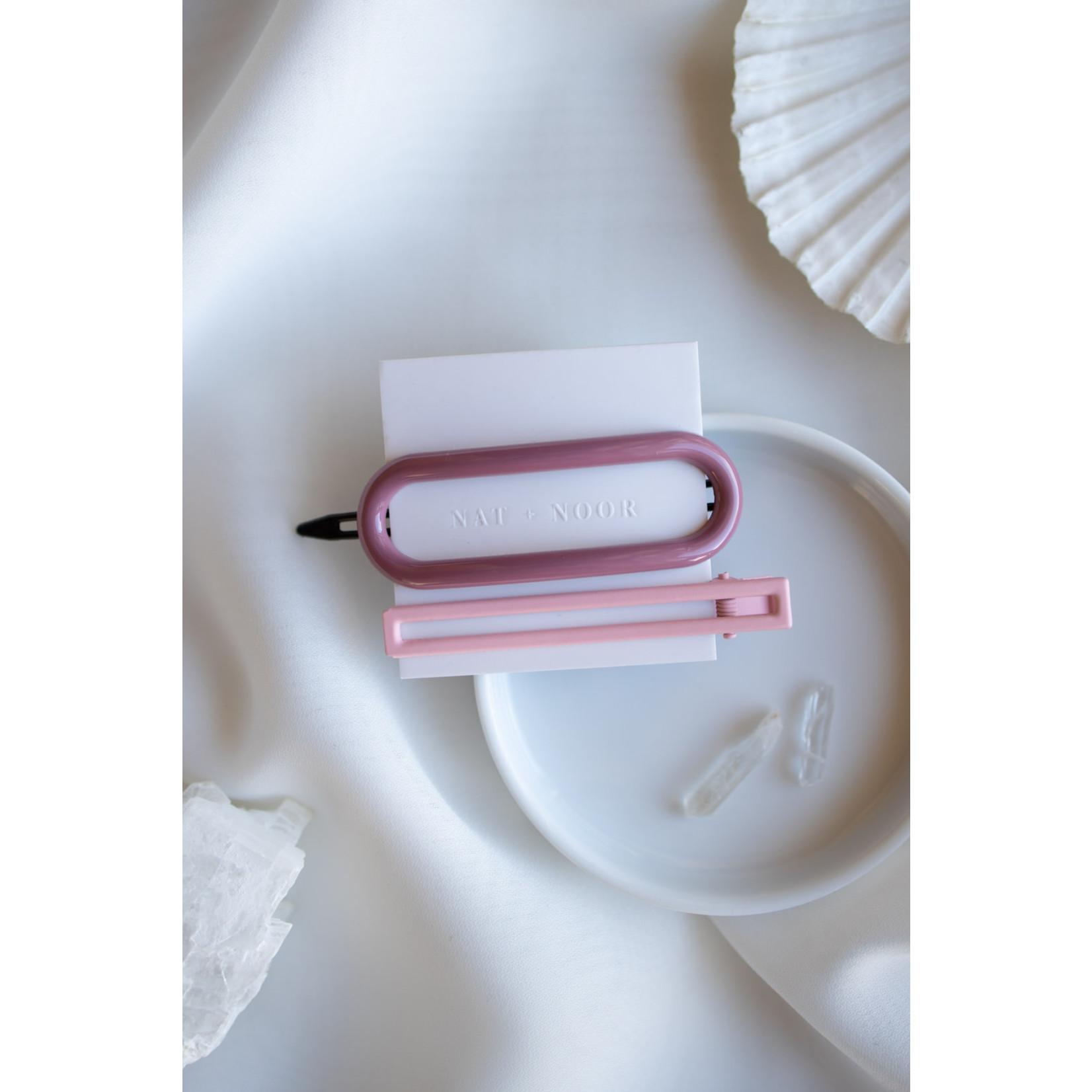 Nat & Noor Pink Hairclip pair