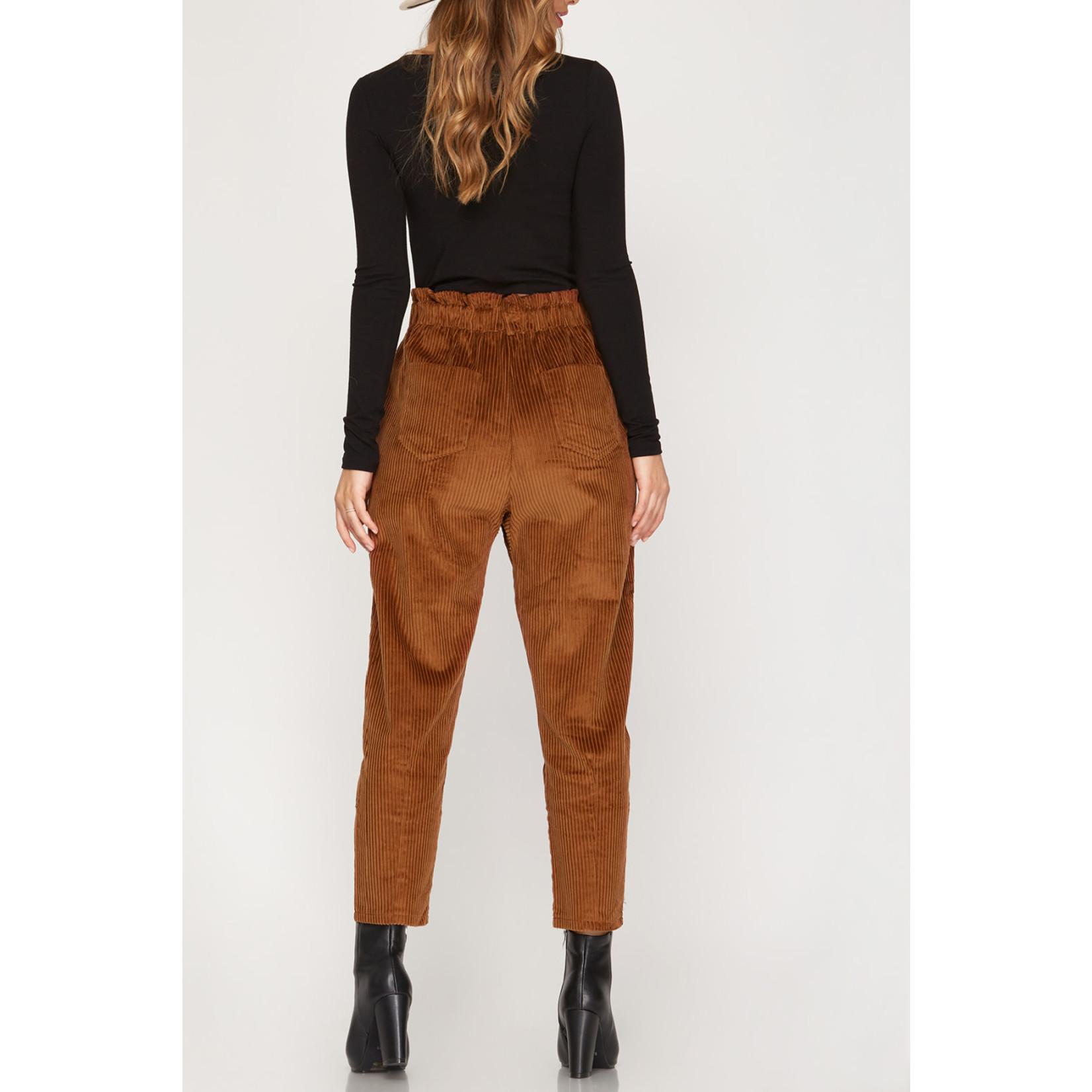 She & Sky Corduroy Paperbag pants