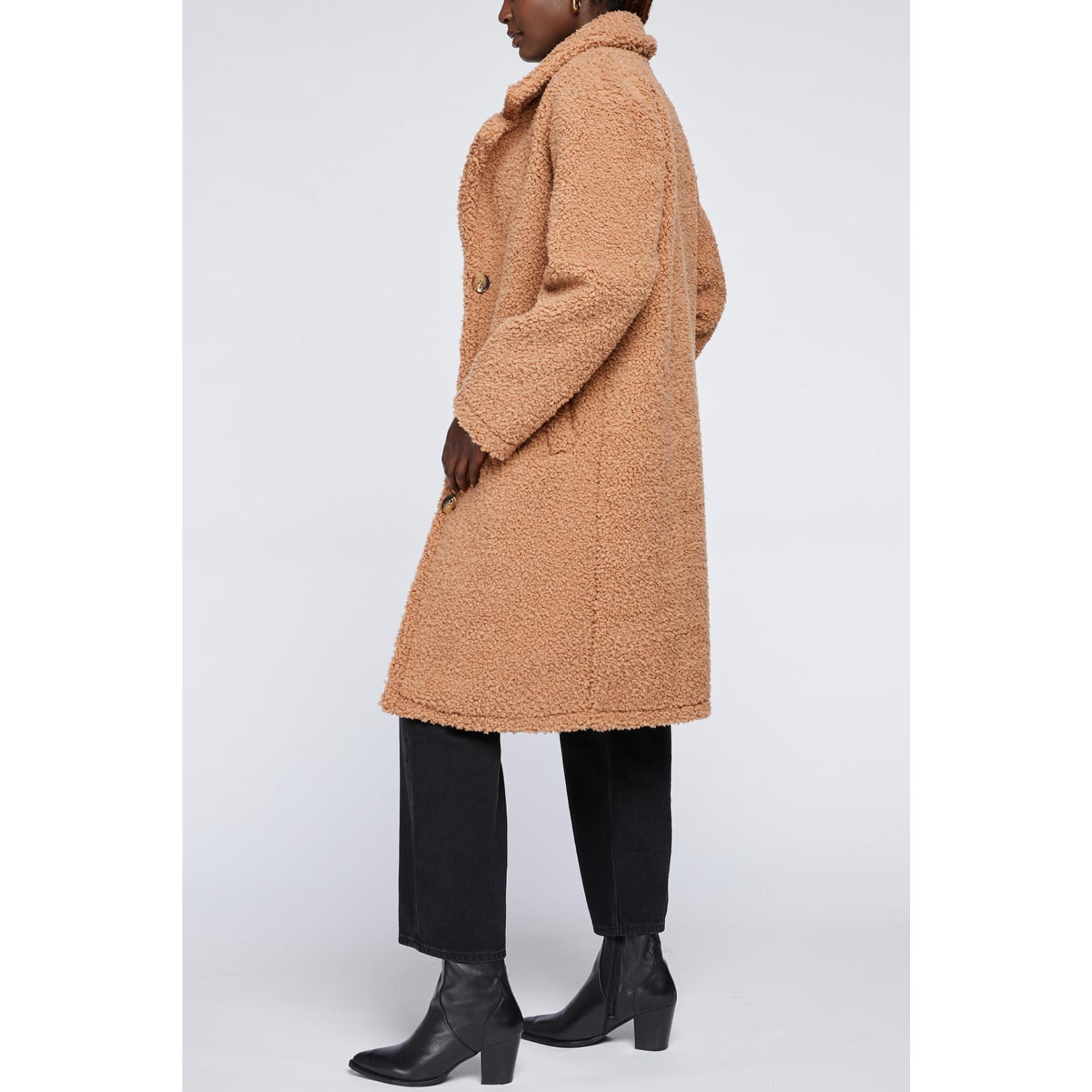Gentle Fawn Soft Faux Shearling Coat