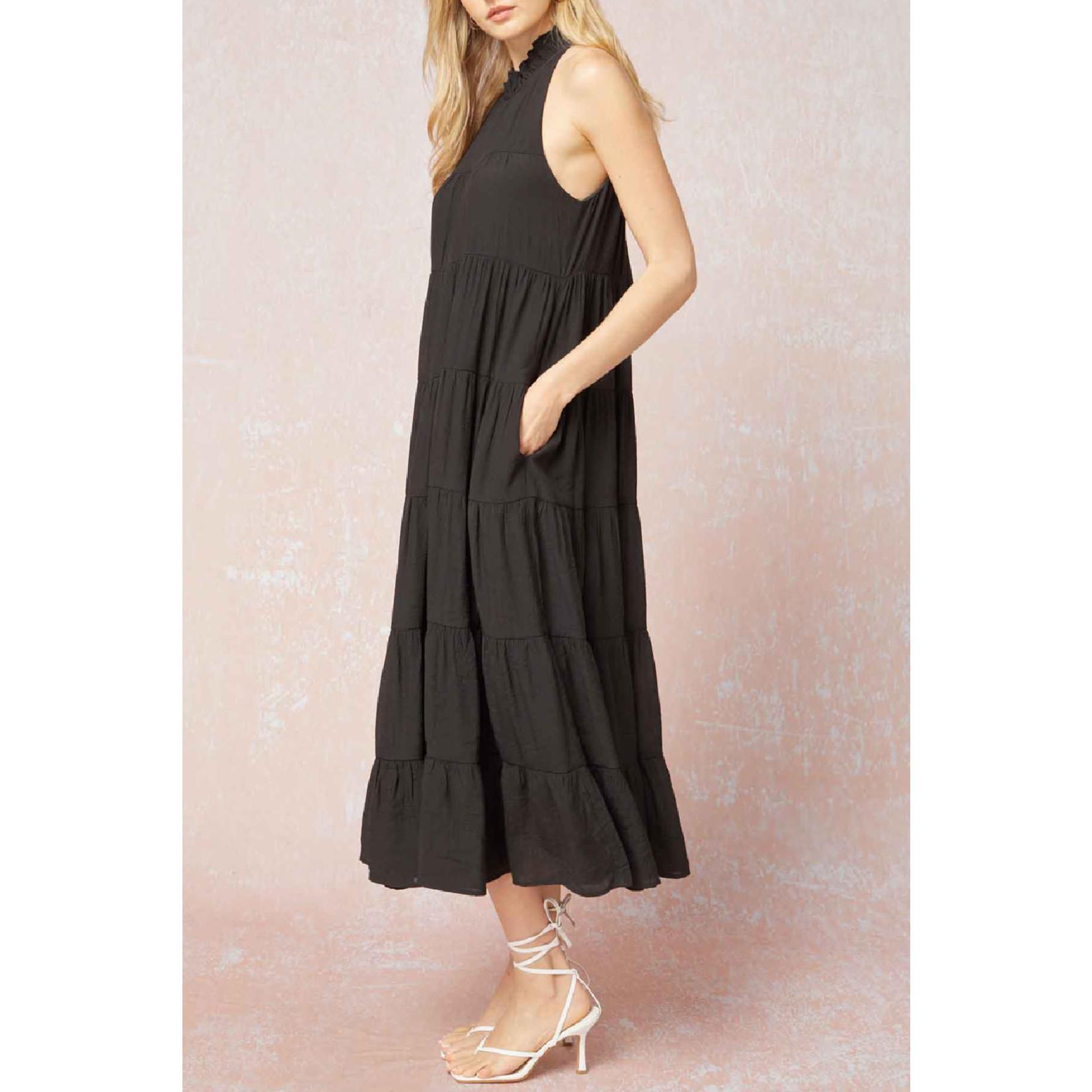 Entro Mock Neck Maxi Dress