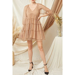 Entro Dotted Tiered Dress