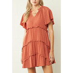 Entro Short Sleeve Tiered Dress