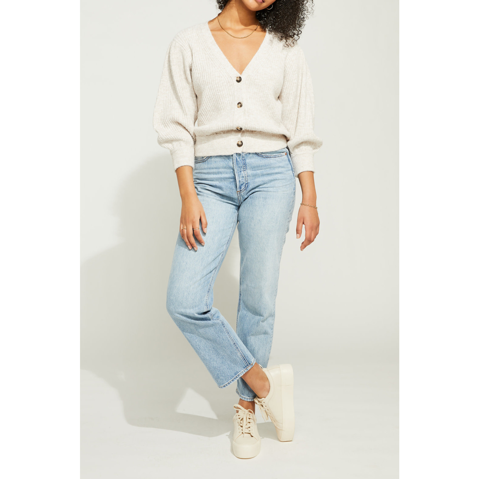 Gentle Fawn Cropped Button Front Sweater