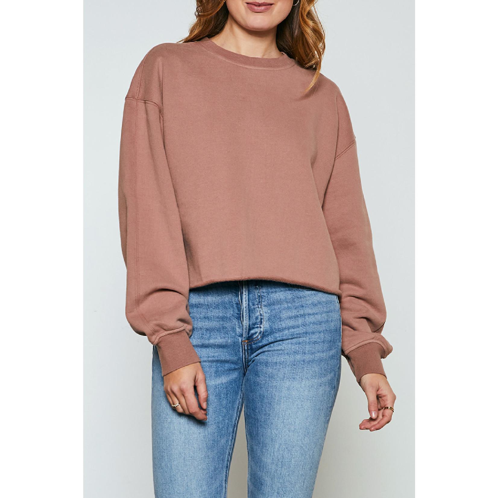 Gentle Fawn Raw Edge Fleece Sweatshirt