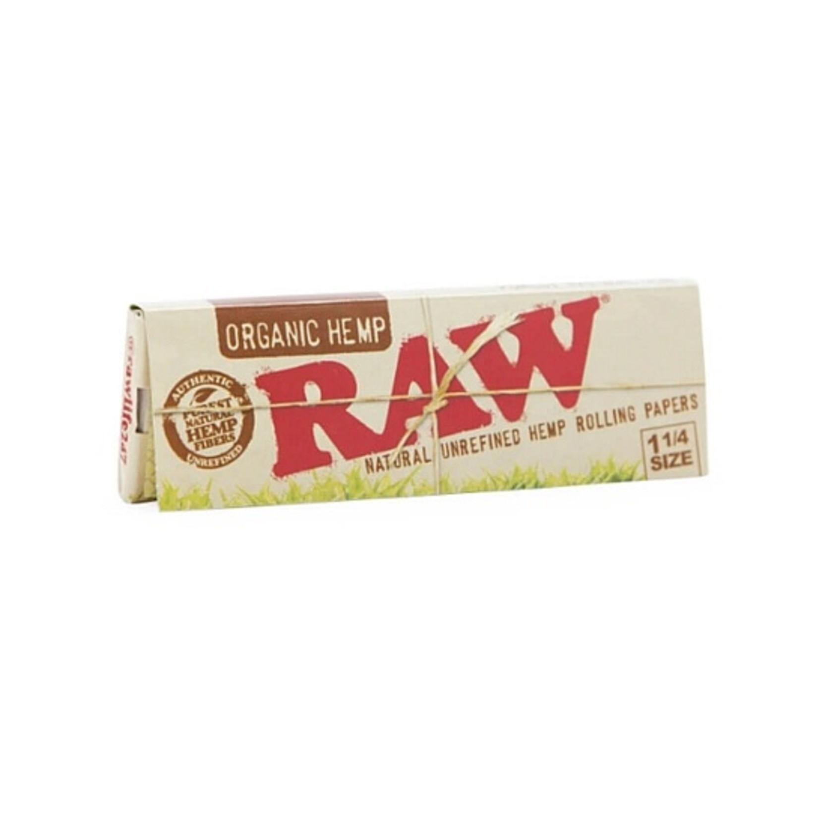 Raw Raw Organic Hemp 1 1/4 Papers